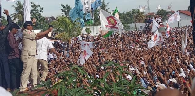 Prabowo: Banten Luar Biasa, Tolong Jaga TPS Walau sampai Pagi