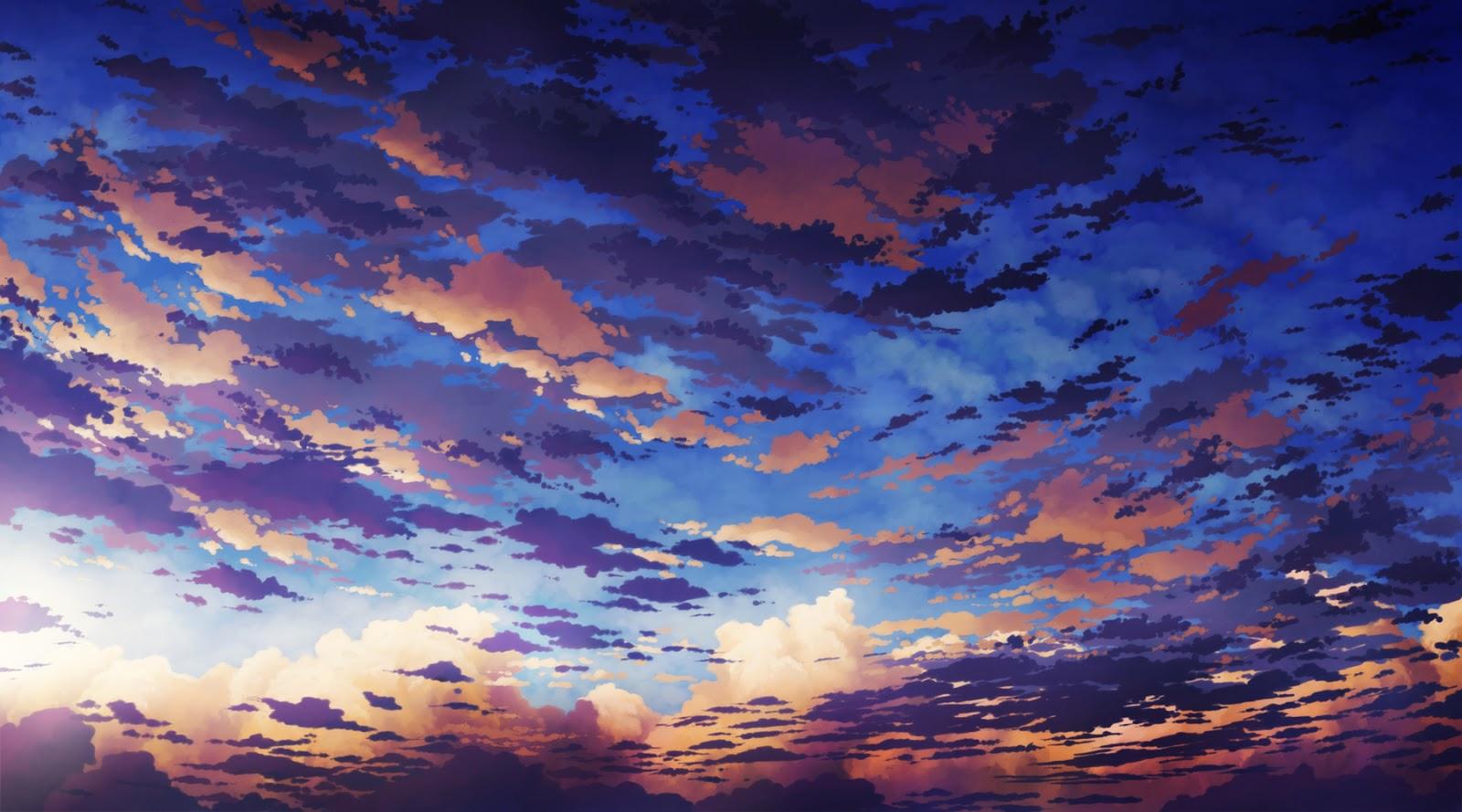 Phone Wallpaper Boy And Girl Sunset Anime Anime Landscape Sky Anime Background