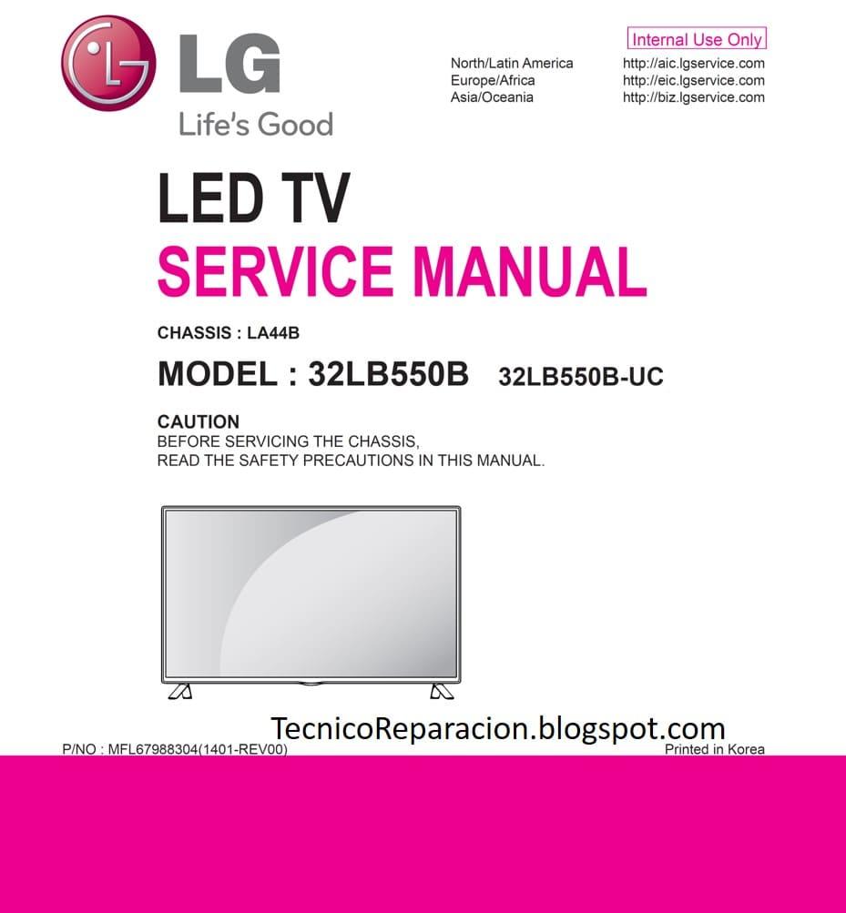 CHASSIS LA44B 32LB550B 32LB550B-UC Diagrama LG LED TV | Reparación
