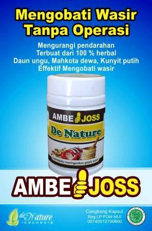 Ambejoss denature amph obati ambeien atau wasir Ambe Joss