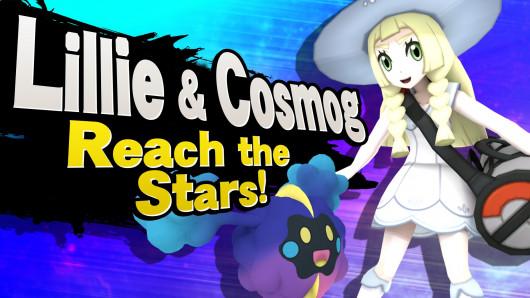 Lillie y Cosmog aterrizan en Super Smash Bro Wii U
