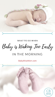 What to do when baby is waking too early in the morning