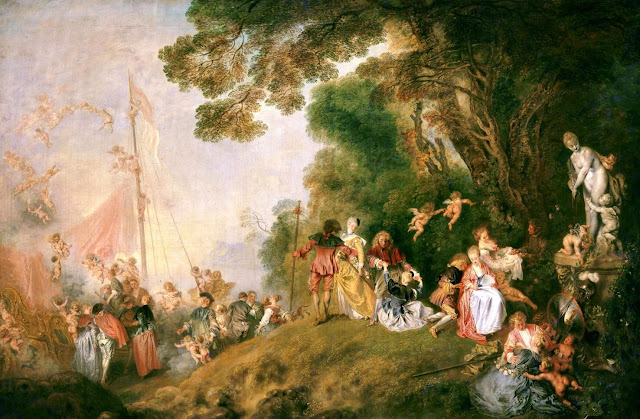 Antoine Watteau – The Embarkation for Cythera [L'Embarquement pour Cythère, 1717]