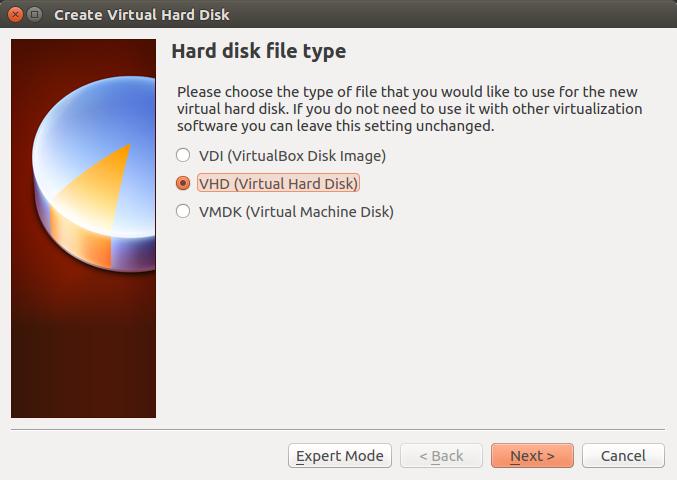 Setting Virtual Harddisk Disk