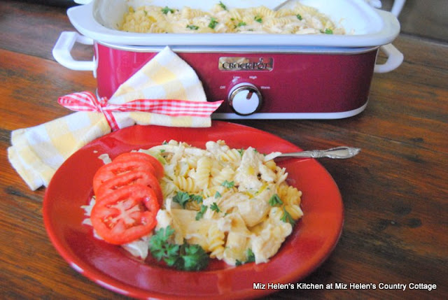 Slow Cooker Buffalo Chicken Casserole at Miz Helen's Country Cottage