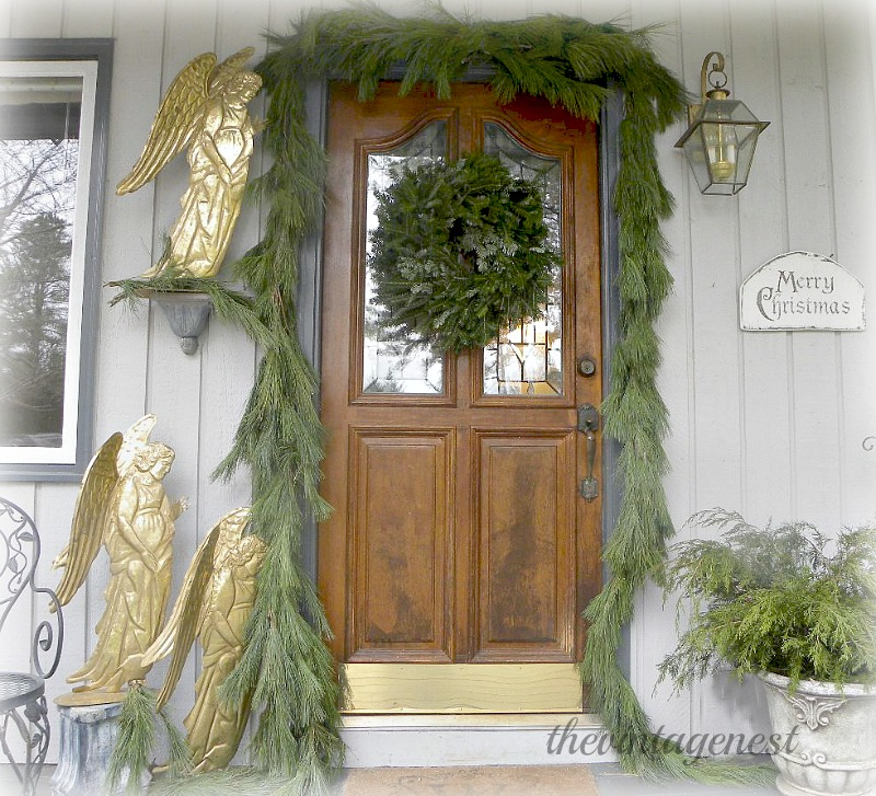 The Vintage Nest Christmas Home Tour-Treasure Hunt Thursday- From My Front Porch To Yours
