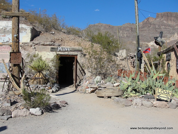 mine shaft in Gold Rush town of Oatman, Artizona