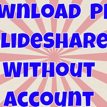 slideshare download ppt