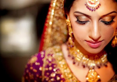 Closeup Photo Of Gorgeous Indian Bride.