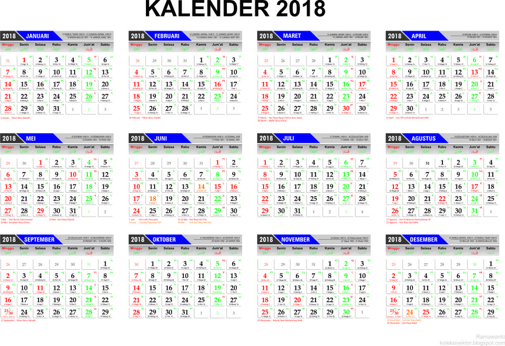 Template kalender 2017 for Kalender design