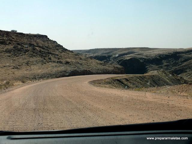 carretera de curvas namibia