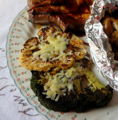 Grilled Cauliflower & Broccoli Cheese