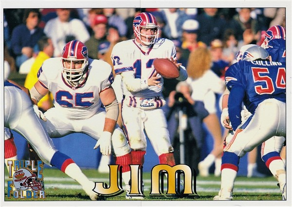 1994 Triple Folder Jim Kelly Face