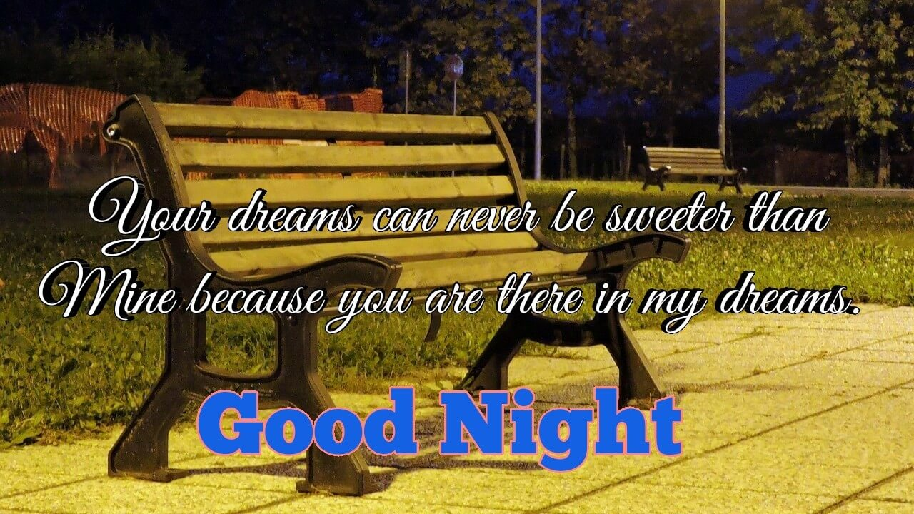Your Dreams can never be sweeter - Romantic Good Night Facebook Love Image
