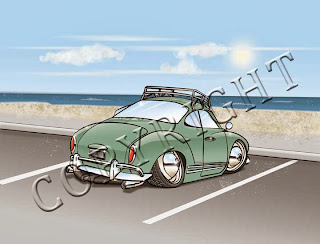 "VW Ghia - Art Print (8""x10"" or 5""x7"")"