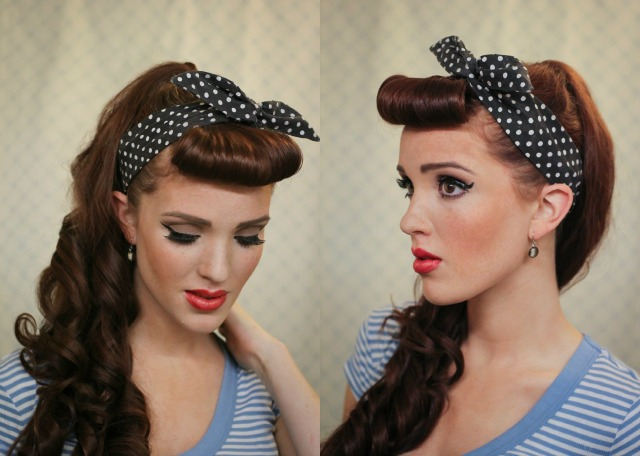 Incredible The Freckled Fox Modern Pin Up Week 1 Cascading Pony With Bangs Short Hairstyles For Black Women Fulllsitofus