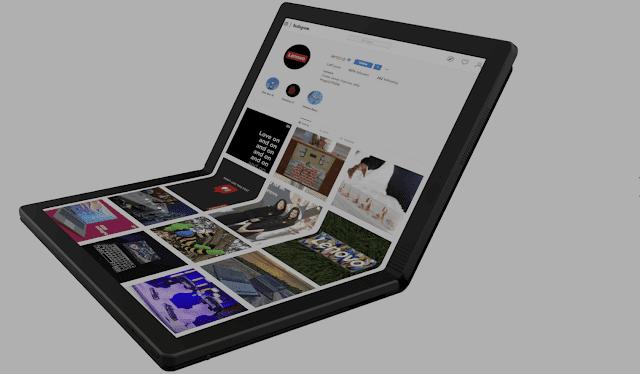 لينوفو تعرض أول كمبيوتر محمول بشاشة قابلة للطي في العالم