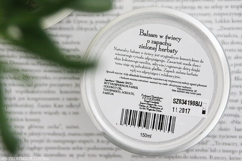 świeca do masażu etykieta
