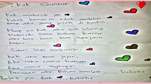 Surat cinta dari adik kelas untuk kakak kelas