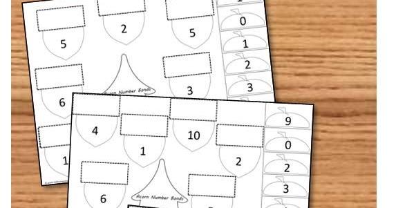 FREE Acorn Cut Paste Math Worksheets – Cut and Paste Math Worksheets