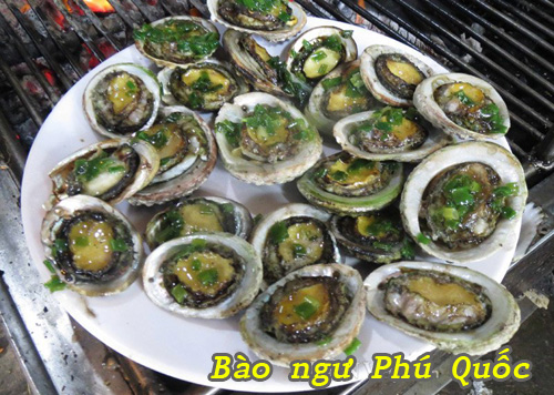 Bào ngư Phú Quốc nướng mỡ hành