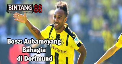 Bosz: Aubameyang Bahagia di Dortmund