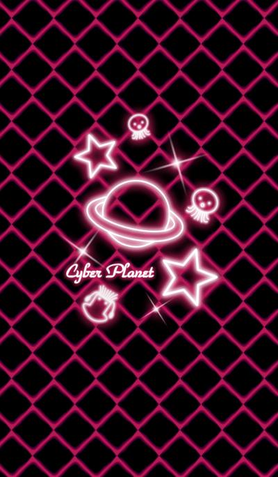 Cyber Planet -Neon vivid pink-
