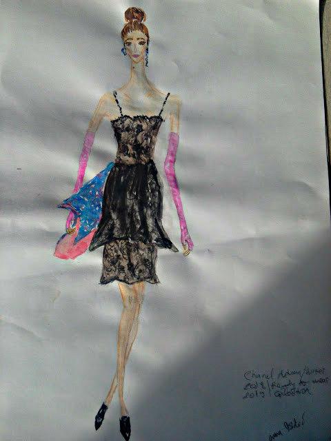 #runaway #fashionpainting #watercolour