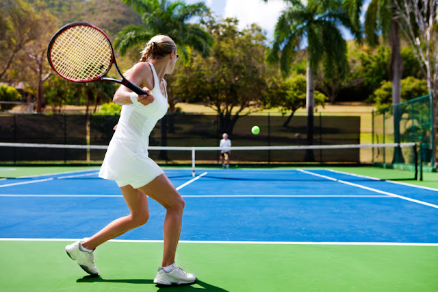 Jogar tênis nos parques em Las Vegas