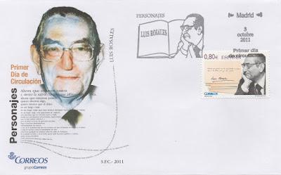 Sobre PDC del sello dedicado a Luis Rosales