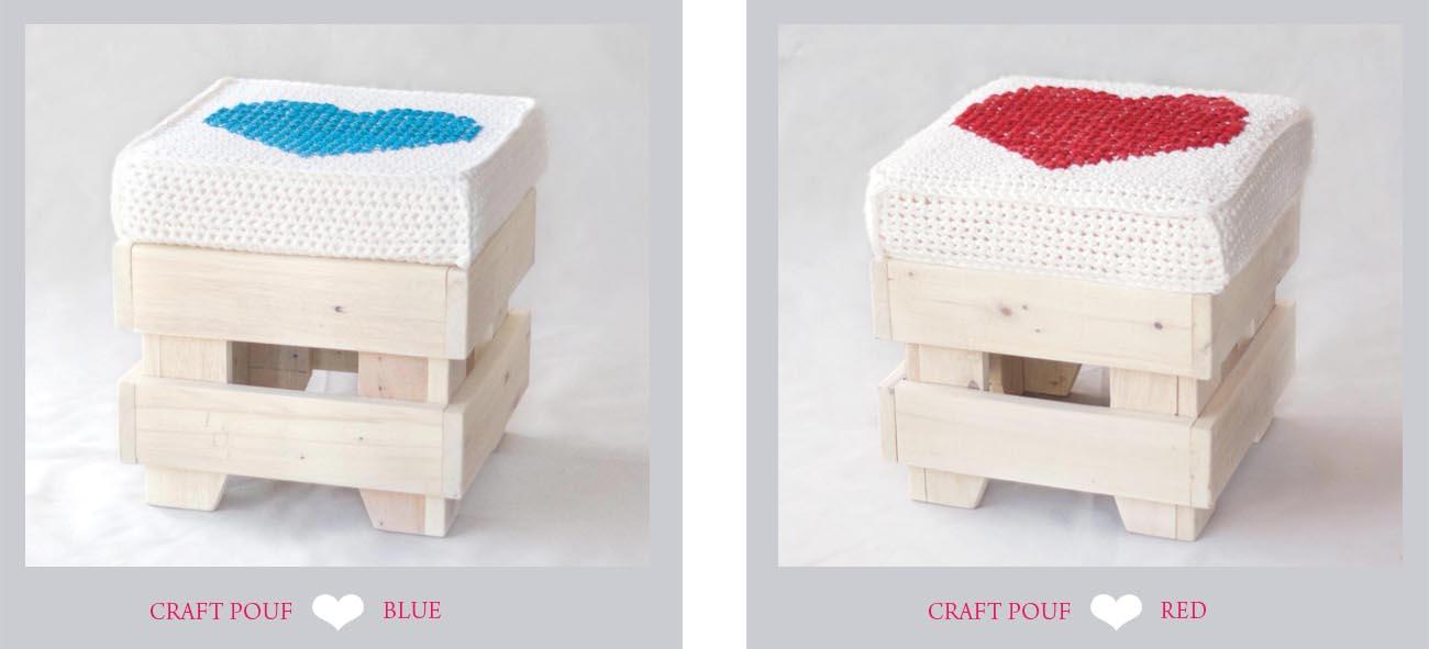 Lorendesign Craft Pouf  creare con i pallet