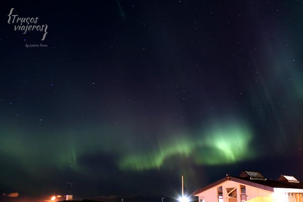 auroras boreales en Reykjavik