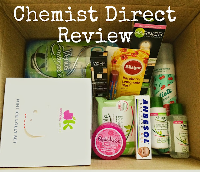box of products from Chemist Direct