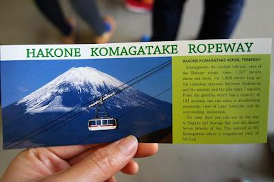 Hakone Komagatake Ropeway Ticket Japan