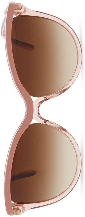 Stella McCartney Semi-Round Clear/Opaque Sunglasses