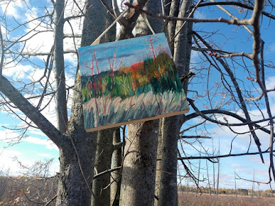 landscape oil painting mill creek conservation area Ontario