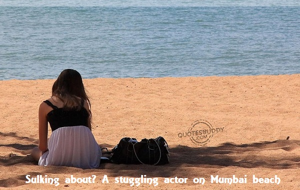 Aspiring actor  on Mumbai beach
