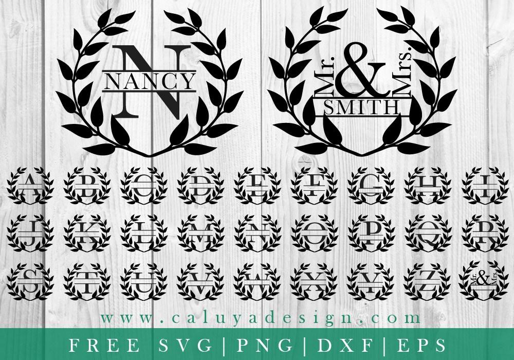 Download Free Monograms & Split Monograms for Cricut Design Space