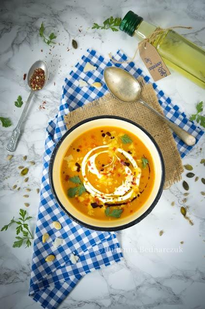Zupa krem z dyni z parmezanem