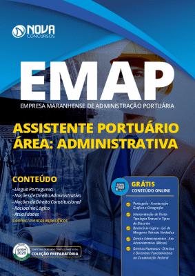 Apostila Concurso EMAP 2020 Assistente Portuário Área Administrativa Grátis Cursos Online