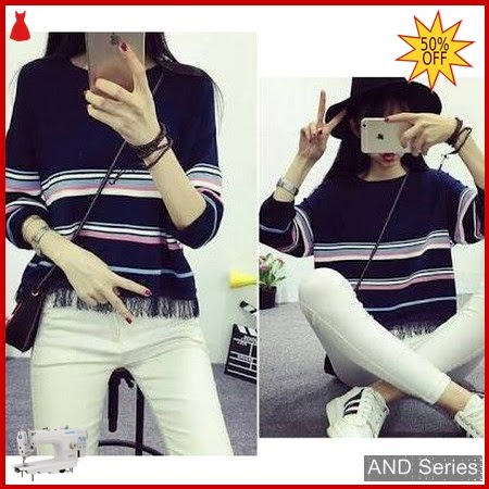 AND223 Baju Atasan Wanita Kaos Crop Rawis BMGShop