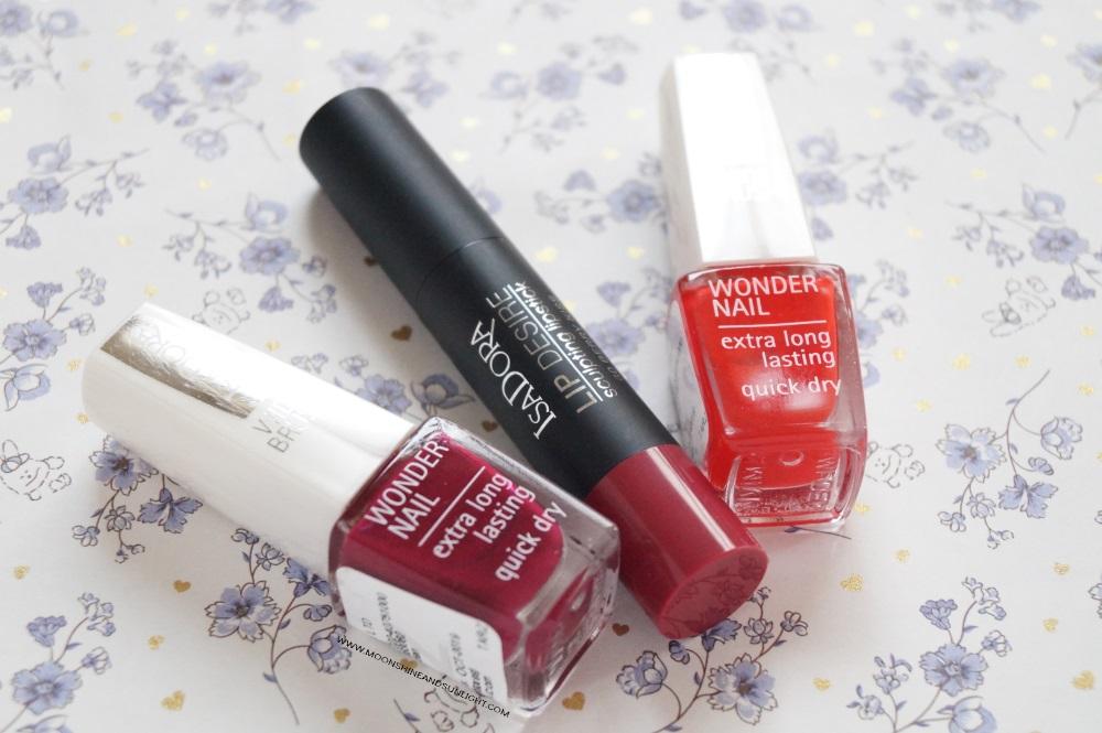 Moonshine and sunlight , IsaDora Cosmetics Nail polish , Lipstick