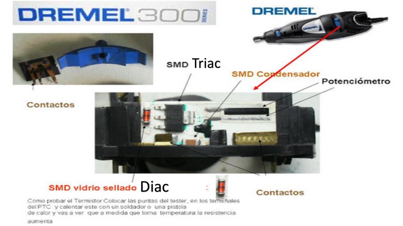 Reparaciones: Diagrama Dremel 300 series  datos para repara