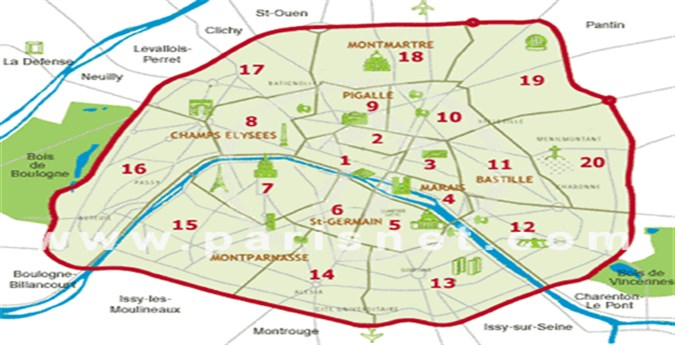 Souvent Paris Map | Maps Of Cities ZS26