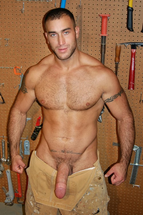 Construction gay hot man naked