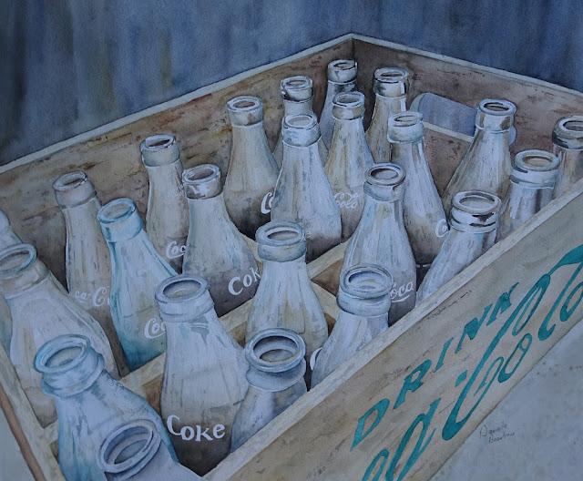Danielle Beaulieu watercolour Drink coke
