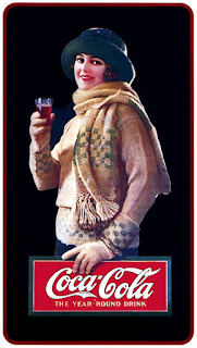 Девушки на ретро рекламных афишах Coca-Cola