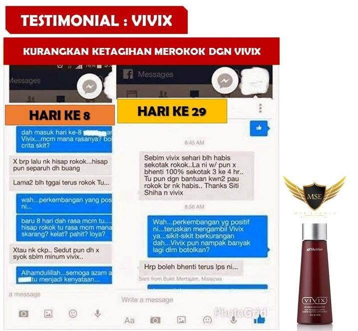 Testimoni Kurang Merokok Selepas Minum Vivix