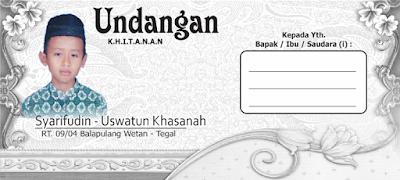15 Template Undangan Pernikahan & Khitanan Model Amplop Kabinet