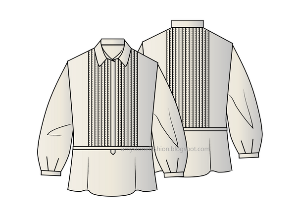 most popular largest selection of new design Amy Stone Fashion Flat Sketches: women tuxedo shirt 0099